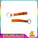 Venda a quente bracelete em borracha de silicone, Key Ring 100% de silício chaveiro