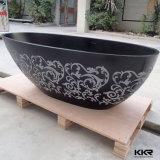 Camminata portatile di pietra artificiale del bagno di acquazzone in vasca da bagno