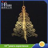 El árbol del arte 3D del metal del producto del partido de Navidad cuelga