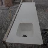 Pierre de quartz de marbre blanc pur Comptoir de cuisine haut de page (c1706266)