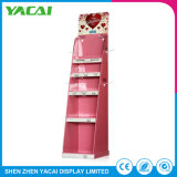 O papel coneta o carrinho da exposição da cremalheira de indicador do assoalho para lojas da especialidade