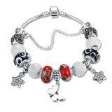 Armband van de Charme van de Vlinder van de Juwelen DIY van de manier de Zilveren Geplateerde Ster Geparelde