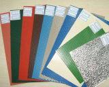 1050, 3003, 3005 en relieve en estuco de la bobina de aluminio/hoja en varios colores