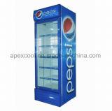 Utilização Comercial Refrigerador de Bebidas Porta de vidro para recordações 380L