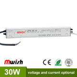 Wasserdichtes Aluminiumgehäuse 30W SMPS DC12V 2.5A LED regelte Stromversorgung