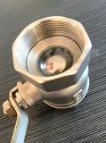 Porta piena dell'acciaio inossidabile/valvola a sfera alesata del filetto femminile 2PC