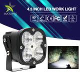 트럭 자동차 부속용품 6500K 플러드 광속 IP68 40W 4.3 인치 사각 LED 일 빛
