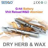 Le crayon lecteur sec de Vape d'herbe de Vape Seego Vhit de vaporisateur de fines herbes sain de la recharge W&D