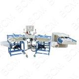 Almohada de fibra/acolchado cardado y el ajuste de peso de la máquina de llenado