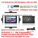 """L'ODM 7.0 """" camion de voiture GPS de navigation maritime avec Dash transmetteur FM, AV-in de la caméra arrière,système de navigation GPS de poche pour téléphone mobile Bluetooth,TMC Tracker,TV"""