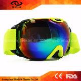 La neige de ski de vague déferlante folâtre des lunettes de ski de panneau de neige d'usage de ski de lunettes de sports en plein air