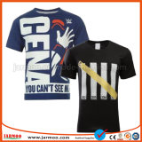 T-shirt confortable d'homme d'impression de Digitals de noir chaud de vente