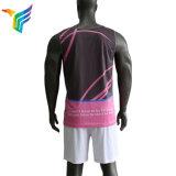 Maglietta giro collo corrente respirabile sublimata abitudine poco costosa di ginnastica di uomini di stampa di prezzi