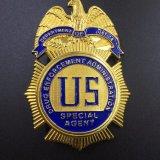 El emblema de la policía de metal esmaltado personalizado con alta calidad