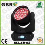 Lavage principal mobile neuf de zoom de faisceau lumineux de Gbr DEL 19PCS 15W