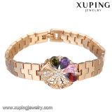 73470 bracelete de luxo moda jóias, Bracelete neutra, sintético CZ bracelete com 18K banhado a ouro