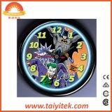 """ホーム装飾の簡単な円形デザイン12 """"安いプラスチック柱時計"""