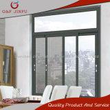 Ventana de cristal doble de aluminio de aluminio de la ventana de desplazamiento con la pantalla inoxidable