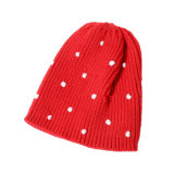 МНОГОТОЧИЕ зимы осени детей малышей теплое связанное покрывает шлем заплетенный Beanie (HW628)
