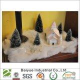 La Navidad suave artificial blanca de la nieve del tirón de la pelusa que adorna (16 onzas)
