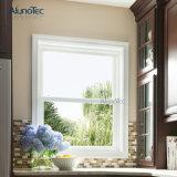 Ventana de cristal vertical colgada doble superior de aluminio de desplazamiento de la ventana de la ventana de marco