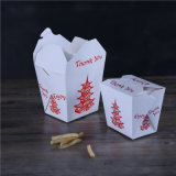 Вынос бумаги продовольственной контейнер для Fast Food