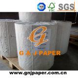 Alto papel de tejido inferior del magnesio de Wihte G/M en rodillo enorme