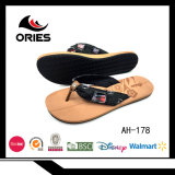 Nouveau design sangle Denim EVA Lady Flip Flop pantoufles
