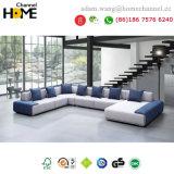 Diseño europeo moderno Muebles de Salón Gran sofá de tela en forma de U (HC-R573)