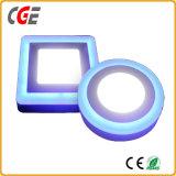 Quadrato chiaro di illuminazione di comitato di colore LED LED della lampada 6+3With12+4With18+6W della lastra di vetro del LED doppio/indicatore luminoso rotondo dell'indicatore luminoso di comitato del LED LED