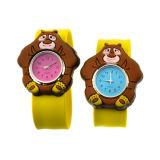 Reloj animal múltiple material del regalo de la combinación de la dimensión de una variable del silicio de la palmada para la promoción