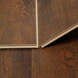 Azulejo de suelo laminado impermeable material de la decoración del V-Surco con el tecleo de Unilin