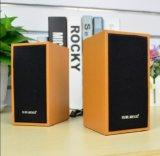 2017 verdrahtete lauter GROSSHANDELSUSB 2.0 Stereolautsprecher-mini beweglichen klassischen hölzernen Lautsprecher