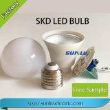 Peças do bulbo do diodo emissor de luz de E14 E27 B22 3W-15W