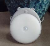 Indicatore luminoso caldo di notte del sensore del silicone del passaggio del guardaroba del bambino della lampada automatica della camera da letto