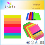 Papel fluorescente del color brillante