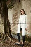 Moda Mujer blanca de invierno cálido abrigo de lana