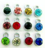 Het modieuze 1mm Ronde Glas van de Tegenhanger van de Diamant van het Kristal van de Juwelen van de Halsband voor de Toebehoren van de Kleding DIY