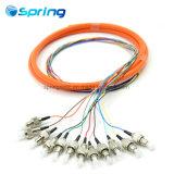 12core 62.5125 Fcupc многомодовый оптоволоконный отвода с наружной оболочки