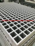 산성과 알칼리성 환경을%s 비비는 FRP 플라스틱 Grating/GRP