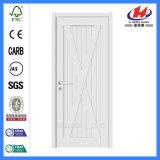 Porte plus blanche d'amorce de panneau solide en bois de Simi moulée par stratifié (JHK-SK08)