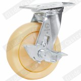 4 pouces de double roulement à billes de précision Heavy Duty Roulette industrielle de roue en polypropylène