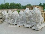 Statua di pietra religiosa del giardino statua animale di marmo gialla/bianca della scultura