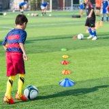 Fußball-Fußball-Platten-Kegel eingestellt