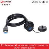 Conector impermeable conector/USB3.0 de cable USB3.0 de Cnlinko