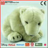 Brinquedo macio realístico do urso polar de animal enchido do luxuoso de ASTM para miúdos/crianças