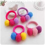 As esferas de 3 bandas de detentores de cabelo elásticos largos de mascar Fashion Kids barbeiro