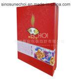 Boîte cadeau en carton de fantaisie avec couvercle pour le gâteau de lune