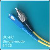 Corde de pièce rapportée optique de fibre de FC-Sc UPC de prix usine de la Chine