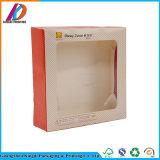Бумажная коробка упаковки еды с окном PVC для слойки